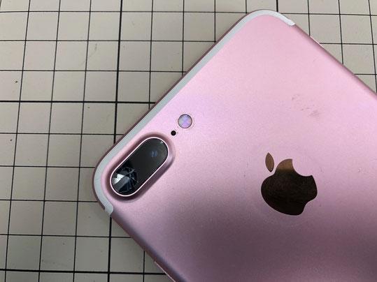 iPhone7プラスカメラのレンズのみ交換 修理事例