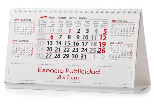 Calendario publicitario del Aceite 2 meses vista
