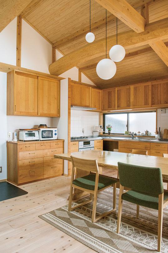 木のキッチンを古民家のリフォームのために作りました