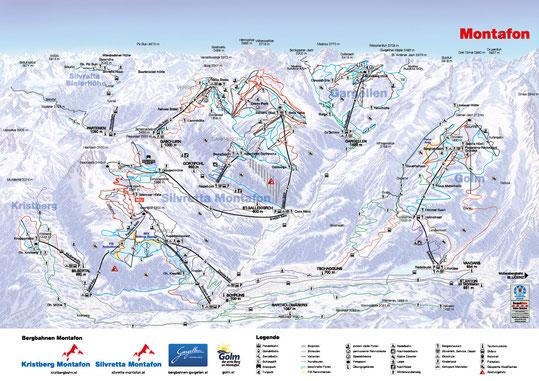 Überblick Montafon - Winter