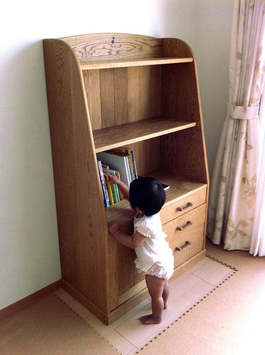 子供部屋で使う学習本棚(厚木市・K様邸)