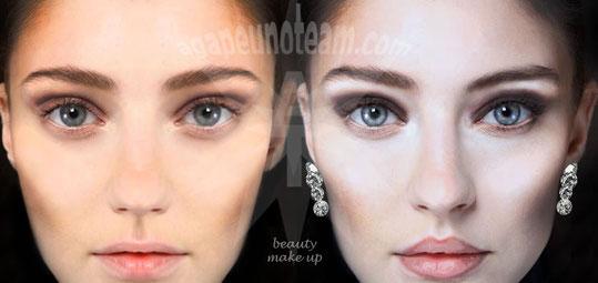 fotoritocco beauty con makeup digitale