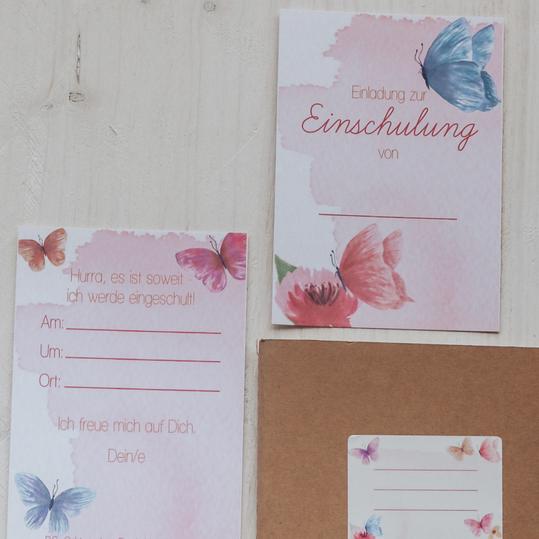 "Einladungen ""Pink Butterflies"""
