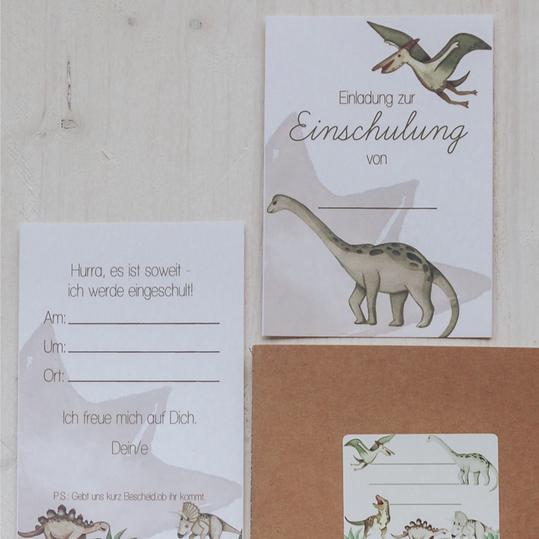 """Einladungen """"Dinosaurier"""""""