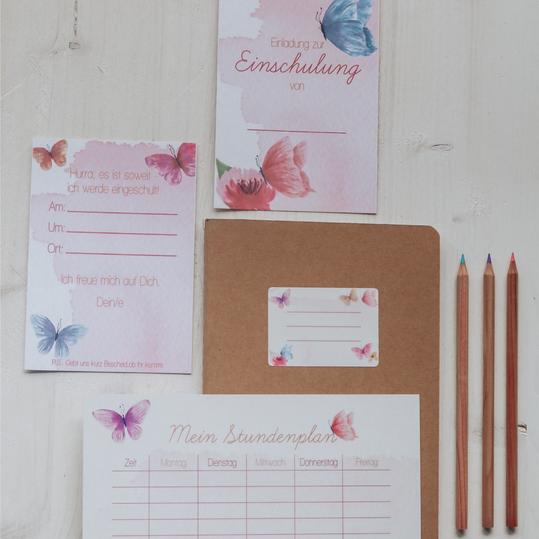 """Set """"Pink Butterflies"""""""