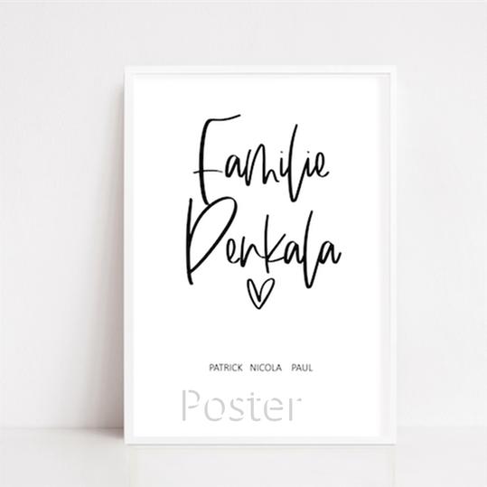 personalisierte Poster zur Geburt, Hochzeit