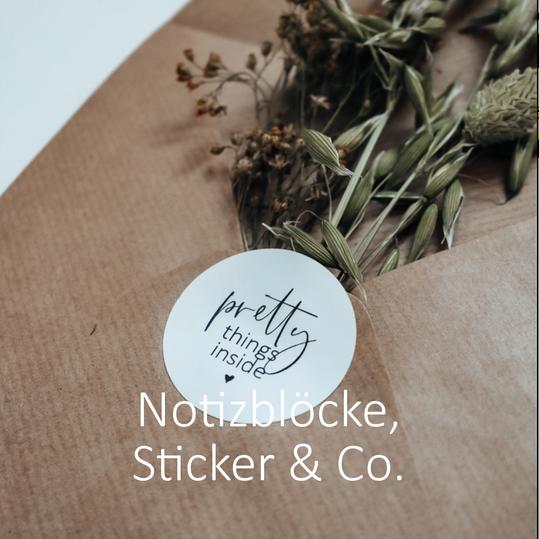 Sticker, Notizblöcke, Aufkleber