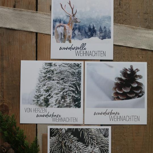 Weihnachtspostkarten quadratisch