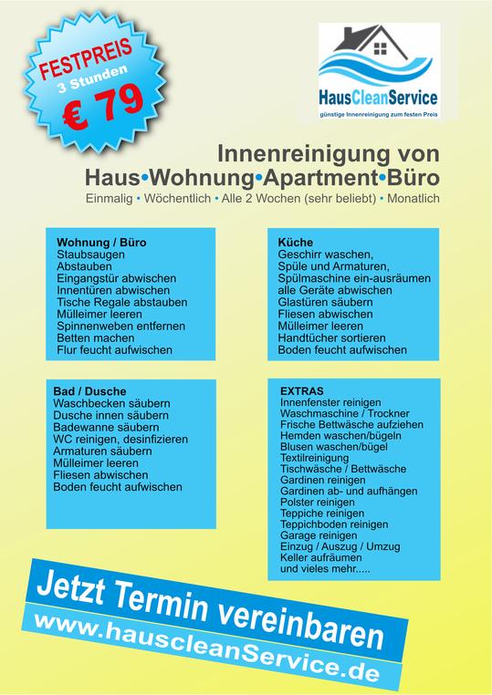 saarclean.de, HausCleaning, Bild von Flyer HausCleaning