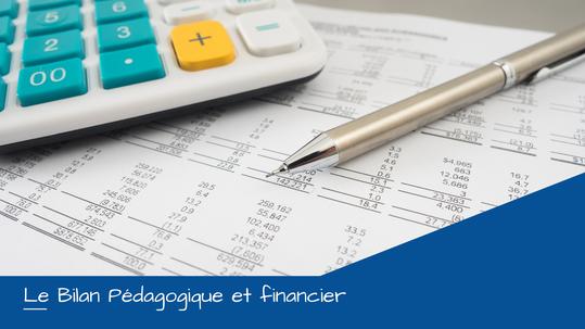 Bilan Pédagogique et financier des organismes de formation
