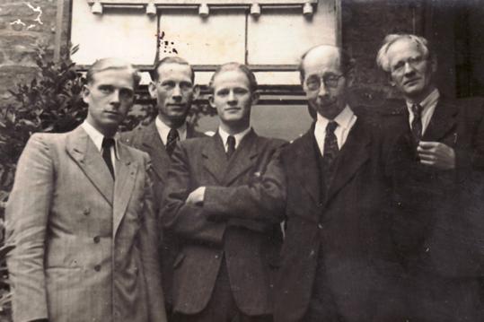 Hanns Heinen bei der Gründungstagung des Rheinisch-Westfälischen Schriftstellerverbandes 1946 in Lobberich