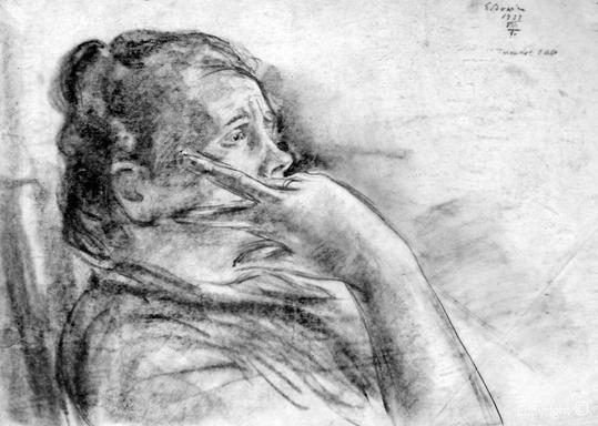 Erwin Bowien (1899-1972)  - Der Engel des Friedens liegt in den Letzten Zügen, 1939