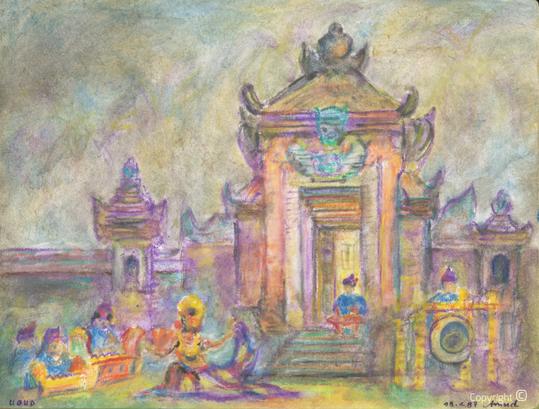Amud Uwe Millies (1932-2008): Ubud Bali, 1992