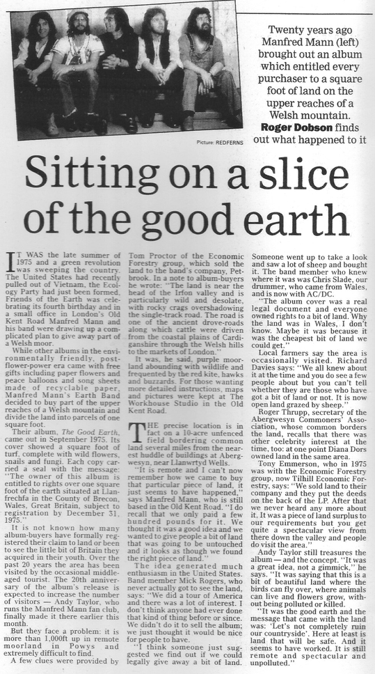 Daily Telegraph - Good Earth Article