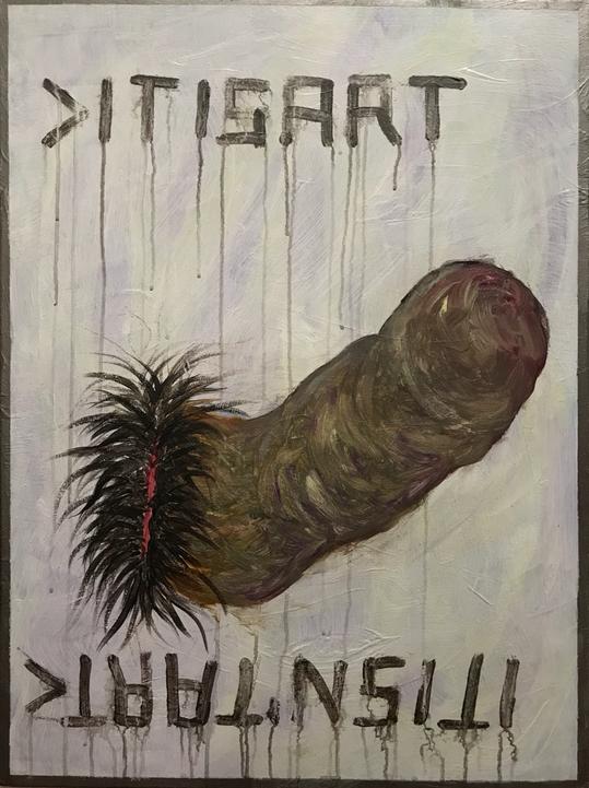 >ITISART/ITISNˋTART< , Acrylic on canvas / 80 x 60 cm