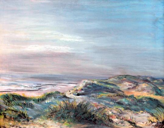 Erwin Bowien ( 1899-1972): Landschaft am Meer in Nord Holland, 30er Jahre