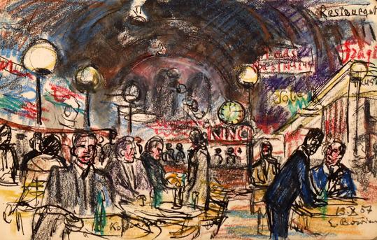 Erwin Bowien (1899 - 1972): Reiseimpression. Bowien schuf auf seinen Reisen quer durch Europa tausende von Skizzen und Zeichnungen, Momentaufnahmen seines Lebens.
