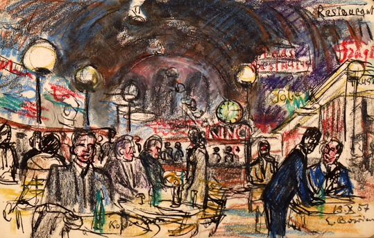 Erwin Bowien (1899 -1972): Travel impression. On his travels across Europe Bowien created thousands of sketches and drawings, snapshots of his life.