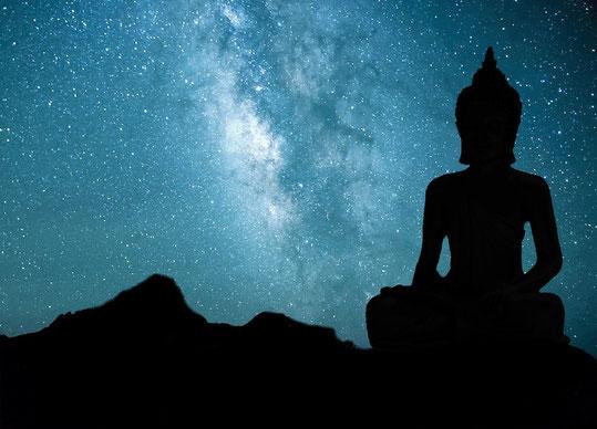 Buddha, Karma, vergangene Inkarnationen, Sterne, Himmel, Astrologie