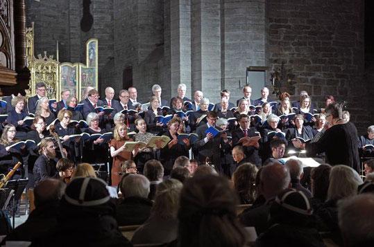 """Aufführung des """"Messiah"""" von Händl in der Klosterkirche mit dem Chor der Svenska Kyrka."""
