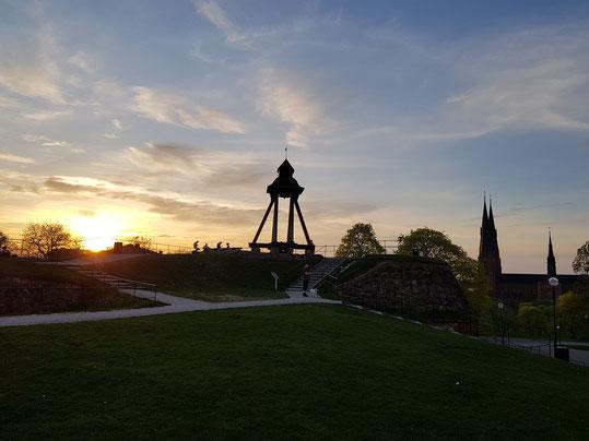 Sonnenuntergang über Uppsala