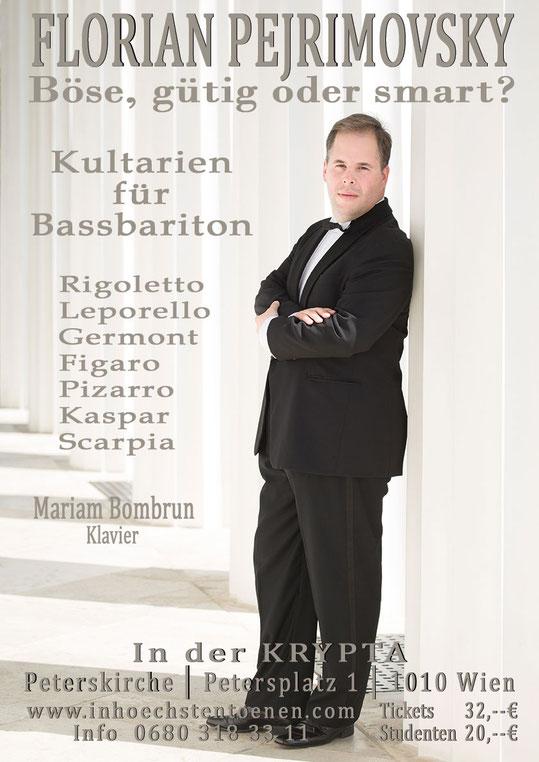 Florian Pejrimovsky - Kultarien für Bassbariton   in der KRYPTA