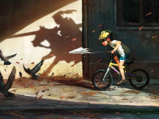 Don Kichote door Mateusz Lenart (www.artstation.com)