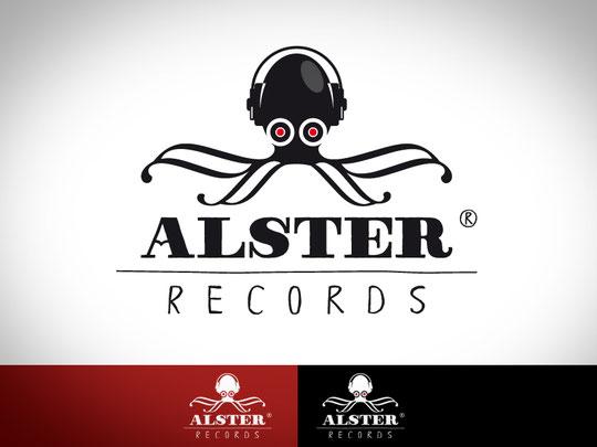 Logogestaltung für Alster-Records aus Hamburg.