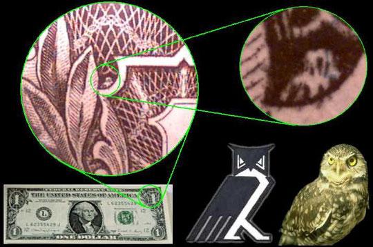 Le Hibou dans le dollar