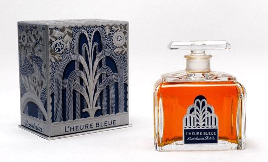 1912 - L'HEURE BLEUE AVEC SA BOÎTE - FLACON EN CRISTAL DE BACCARAT