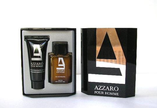 COFFRET AZZARO POUR HOMME COMPORTANT UN MINI TUBE DE GEL DOUCHE PARFUME ET UNE MINIATURE EAU DE TOILETTE