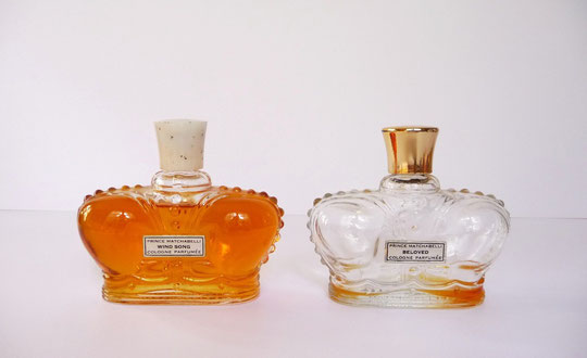 "2 FLACONS ""COURONNE"" : WIND SONG & BELOVED - COLOGNE PARFUMEE 60 ML CHAQUE FLACON"