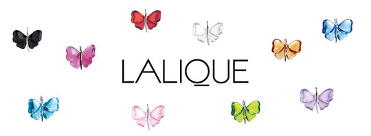 LALIQUE - PUBLICITE PRESENTANT LES DIFFERENTS PAPILLONS DE COULEUR