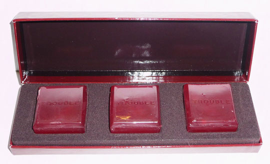 BOUCHERON - TROUBLE : 3 SAVONS PARFUMES,  OFFERT EN PARFUMERIE