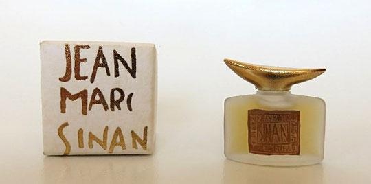 SINAN JM - EAU DE  PARFUM - PETIT FLACON EN VERRE DEPOLI - BOUCHON DORE EN FORME DE CORNE