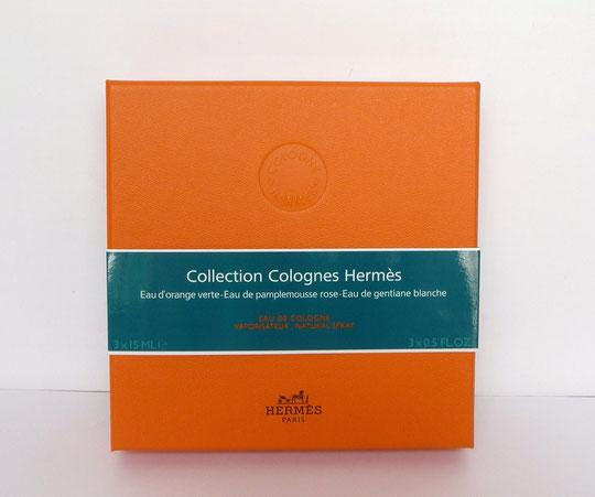 """COFFRET """"COLLECTION COLOGNES HERMES"""" - VOIR CONTENU CI-DESSOUS"""