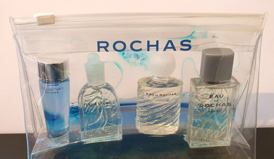 ROCHAS - TROUSSE PRESENTANT 4 MINIATURES DIFFERENTES : IDENTIQUE A LA PHOTO PRECEDENTE