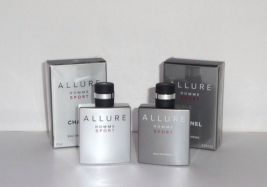 ALLURE HOMME SPORT : LES 2 VERSIONS EAU DE TOILETTE 10 ML