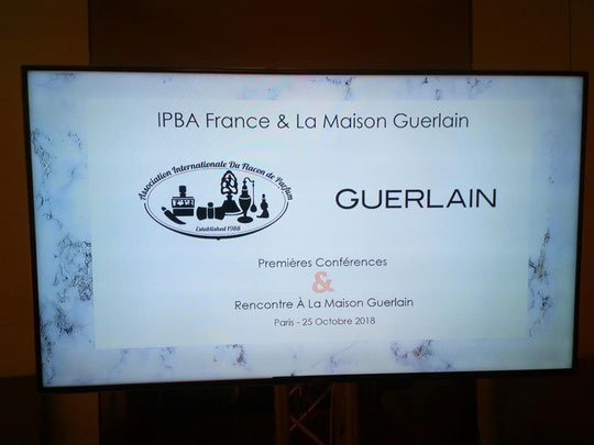 RENCONTRE A LA MAISON GUERLAIN PARIS : IPBA FRANCE & LA MAISON GUERLAIN