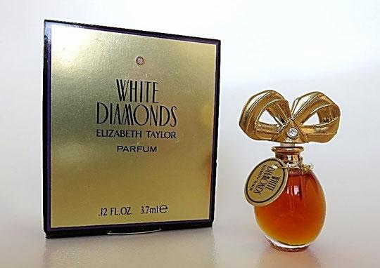 TAYLOR EL. - WHITE DIAMONDS - PARFUM 3,7 ML - DANS BOÎTE LUXUEUSE DOREE
