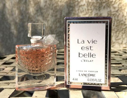 2019 - LA VIE EST BELLE L'ECLAT : L'EAU DE PARFUM 4 ML -  MINIATURE EN VERRE FACETTE