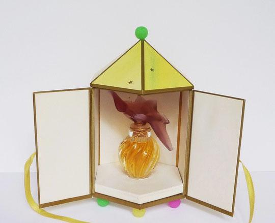 8ème FLACON DE LA SERIE BOUCHON COLOMBES COULEUR : FLACON CRISTAL LALIQUE - PARFUM 15 ML - COLOMBES AMBRES