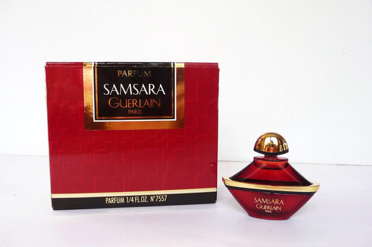 1989 - SAMSARA PARFUM 7,5 ML - PRESENTATION DANS BOÎTE DIFFERENTE EN CARTON