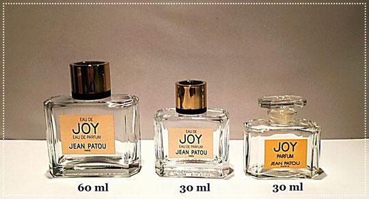 JOY - EAU DE PARFUM ET PARFUM  : 60 ML, 60 ML & 30 ML