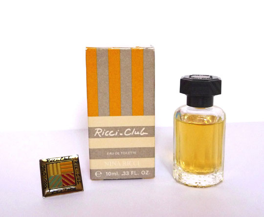 RICCI-CLUB : MINIATURE EAU DE TOILETTE 10 ML & PIN'S