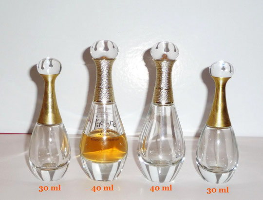 4 FLACONS J'ADORE :  30 ML & 40 ML