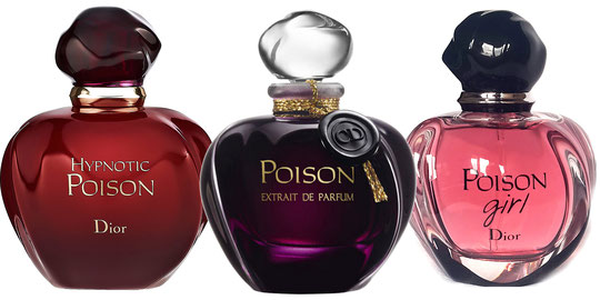 POISON : LES 3 VERSIONS - POISON EXTRAIT DE PARFUM, HYPNOTIC POISON ET POISON GIRL