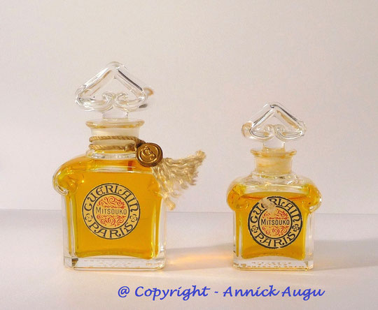 1917 - MITSOUKO : 2 FLACONS PARFUMS : 15 ML & 7,5 ML