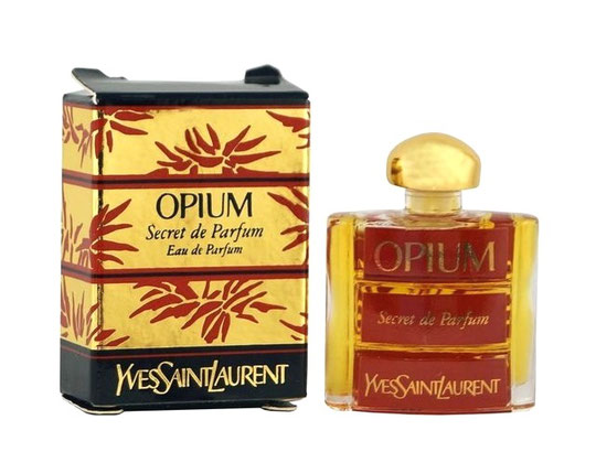OPIUM - SECRET DE PARFUM, EAU DE PARFUM - MINIATURE AVEC UNE FACE LAQUEE MARRON : IDENTIQUE A CELLE DE LA PHOTO PRECEDENTE