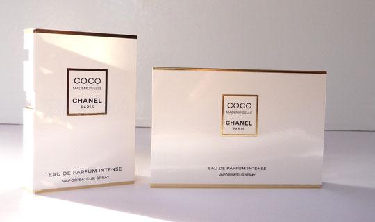 COCO MADEMOISELLE - EAU DE PARFUM INTENSE : ECHANTILLON & COFFRET AVEC MINIATURE
